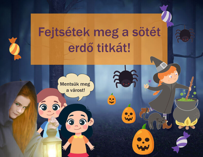 Halloween kaland - funnylogic.hu kincskereső játék kalandok